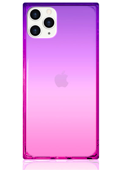 Ombre Pink and Purple Square Phone Case #iPhone 11 Pro Max