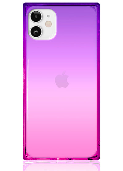 Ombre Pink and Purple Square iPhone Case #iPhone 12 Mini