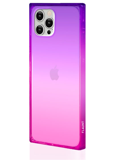 Ombre Pink and Purple Square Phone Case #iPhone 12 Pro Max