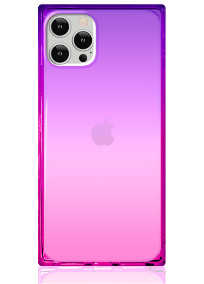 Ombre Pink and Purple Square iPhone Case #iPhone 12 Pro Max