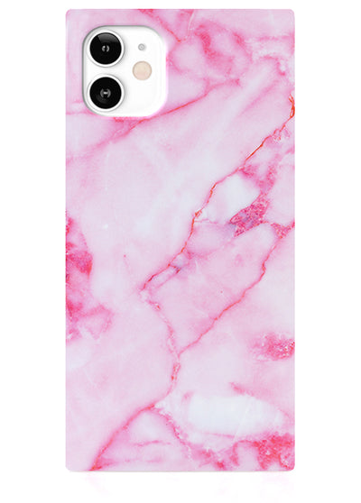 Pink Marble Square iPhone Case #iPhone 12 Mini