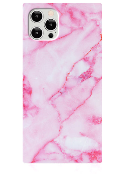 Pink Marble Square iPhone Case #iPhone 12 / iPhone 12 Pro