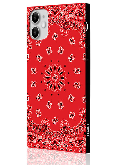 Red Bandana Square Phone Case #iPhone 11