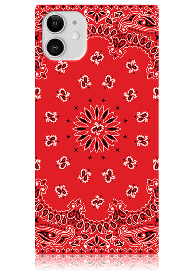 Red Bandana Square iPhone Case #iPhone 11