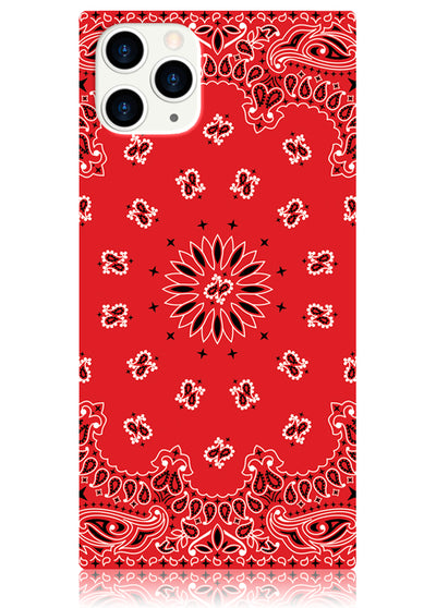 Red Bandana Square iPhone Case #iPhone 11 Pro
