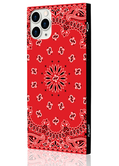 Red Bandana Square Phone Case #iPhone 11 Pro Max