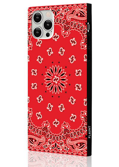 Red Bandana Square Phone Case #iPhone 12 / iPhone 12 Pro