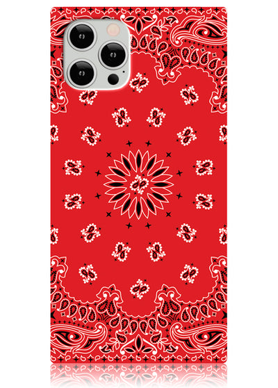 Red Bandana Square iPhone Case #iPhone 12 / iPhone 12 Pro