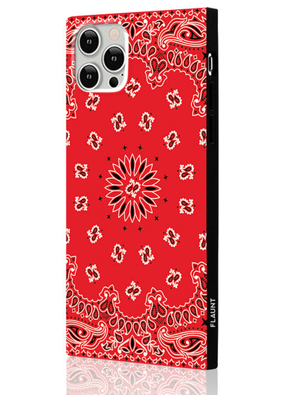 Red Bandana Square Phone Case #iPhone 12 Pro Max