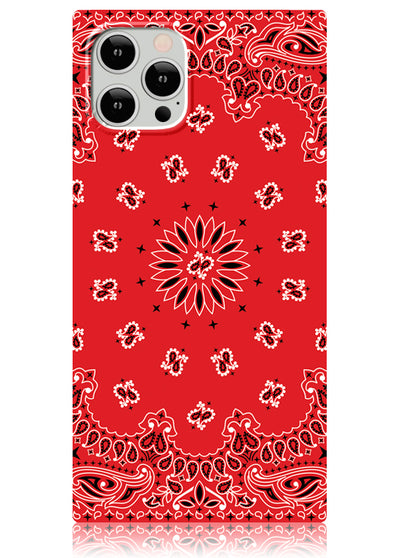 Red Bandana Square iPhone Case #iPhone 12 Pro Max