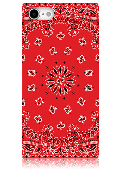 Red Bandana Square iPhone Case #iPhone 7/8/SE (2020)