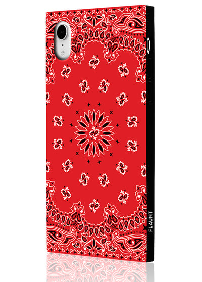 Red Bandana Square Phone Case #iPhone XR
