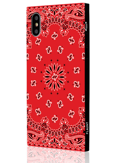 Red Bandana Square Phone Case #iPhone X / iPhone XS