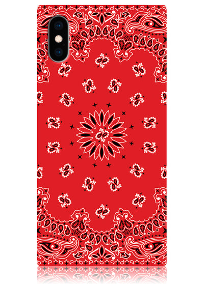 Red Bandana Square iPhone Case #iPhone X / iPhone XS