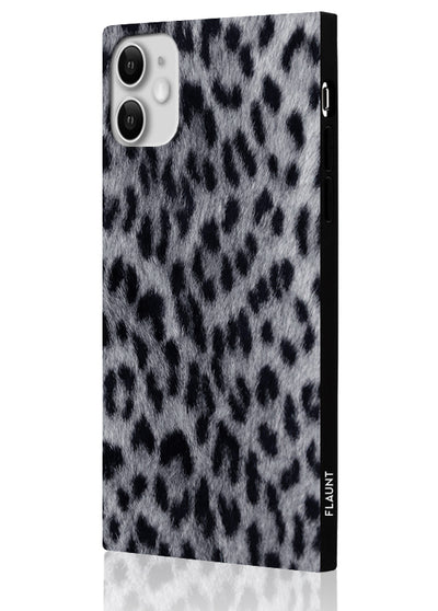 Snow Leopard Square Phone Case #iPhone 11