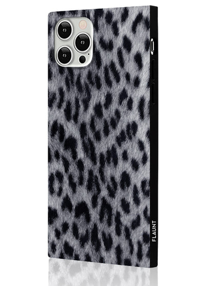 Snow Leopard Square Phone Case #iPhone 12 / iPhone 12 Pro