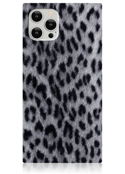 Snow Leopard Square iPhone Case #iPhone 12 / iPhone 12 Pro