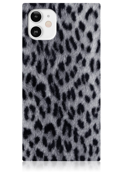 Snow Leopard Square iPhone Case #iPhone 12 Mini