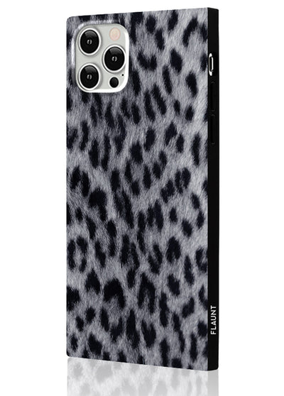 Snow Leopard Square Phone Case #iPhone 12 Pro Max