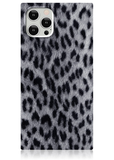 Snow Leopard Square iPhone Case #iPhone 12 Pro Max