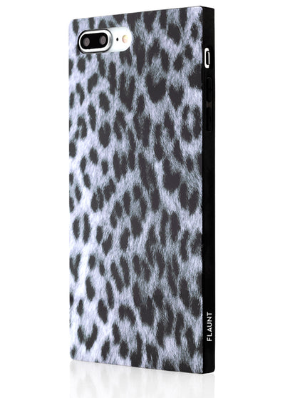 Snow Leopard Square Phone Case #iPhone 7 Plus / iPhone 8 Plus