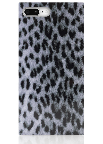 Snow Leopard Square iPhone Case #iPhone 7 Plus / iPhone 8 Plus