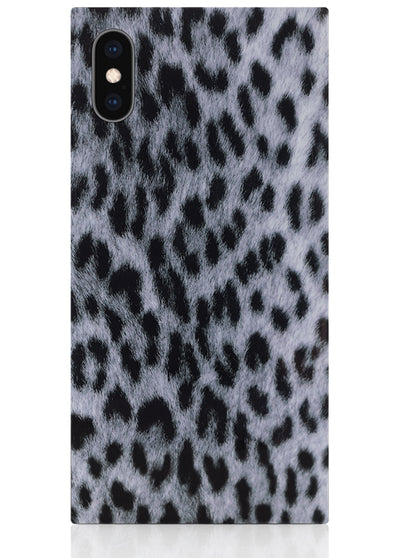 Snow Leopard Square iPhone Case #iPhone X / iPhone XS