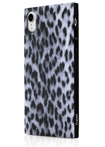 Snow Leopard Square Phone Case #iPhone XR