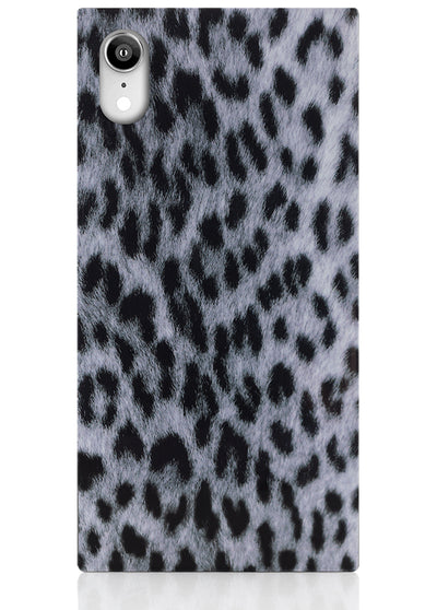 Snow Leopard Square iPhone Case #iPhone XR