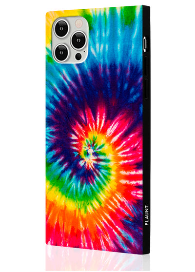 Tie Dye Square Phone Case #iPhone 12 / iPhone 12 Pro
