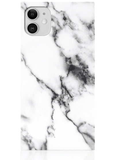White Marble Square iPhone Case #iPhone 11