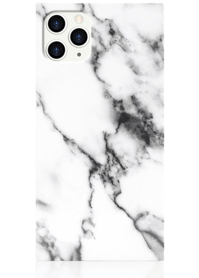 White Marble Square iPhone Case #iPhone 11 Pro