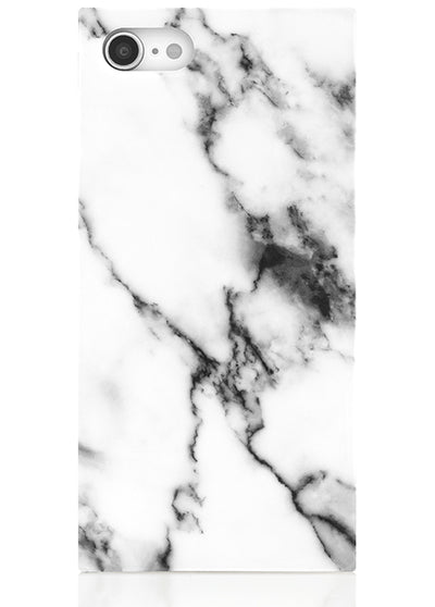 White Marble Square iPhone Case #iPhone 7/8/SE (2020)