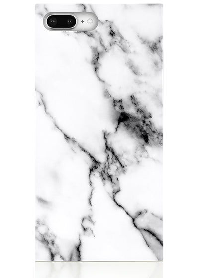 White Marble Square iPhone Case #iPhone 7 Plus / iPhone 8 Plus
