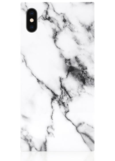 White Marble Square iPhone Case #iPhone XS Max
