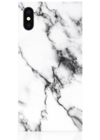 White Marble Square iPhone Case #iPhone X / iPhone XS