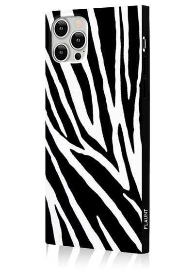 Zebra Square Phone Case #iPhone 12 / iPhone 12 Pro