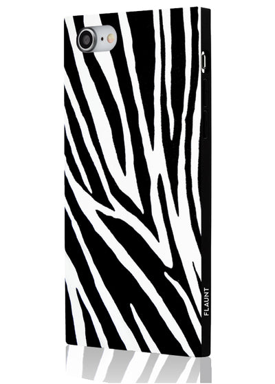 Zebra Square Phone Case #iPhone SE/8/7