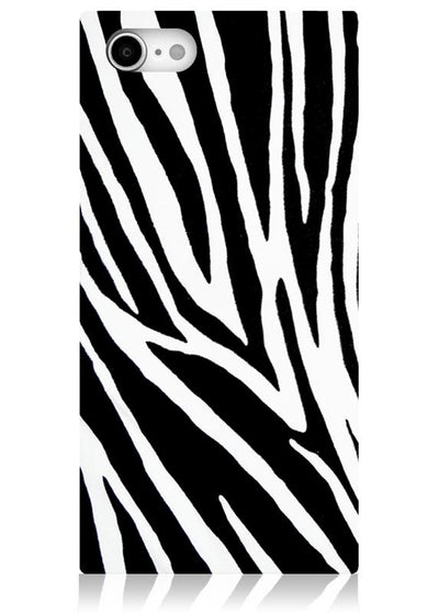 Zebra Square iPhone Case #iPhone SE/8/7