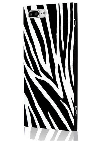 Zebra Square Phone Case #iPhone 7 Plus / iPhone 8 Plus