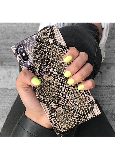 Python Square iPhone Case #iPhone X / iPhone XS