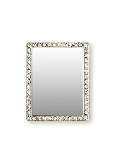Silver Rectangle w/ Crystals Phone Mirror - Shop/Phone Mirrors - iDecoz