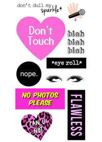 Don't Touch StickerTags - Shop/Sticker Tags - iDecoz
