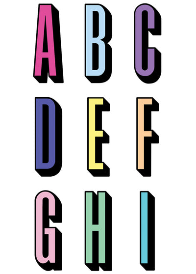 Letters A-I StickerTags - Shop/Sticker Tags - iDecoz