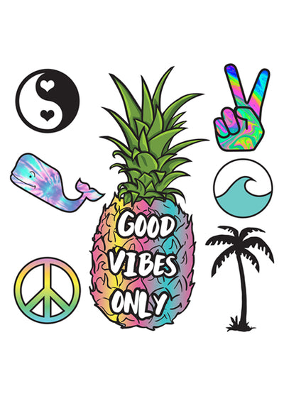 Good Vibes XL StickerTags - Shop/Sticker Tags - iDecoz