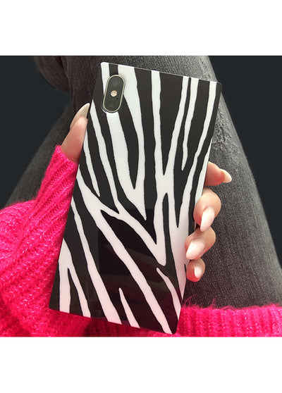 Zebra Square iPhone Case #iPhone 12 / iPhone 12 Pro