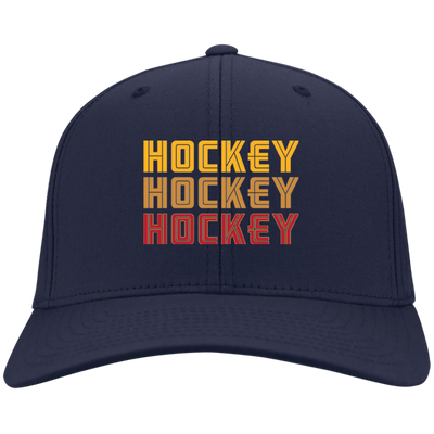 Retro 70s Hockey Repeater Embroidered Twill Cap