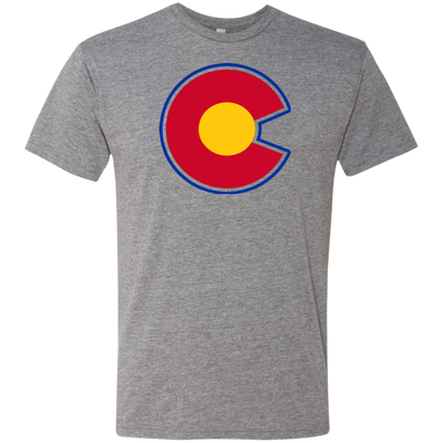 Colorado Rockies Alternative Logo Inspired Men's Triblend T-Shirt