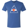 Retro Colorado Rockies Men's Triblend T-Shirt