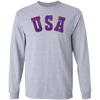 Retro Team USA Hockey Inspired Long Sleeve Cotton T-Shirt